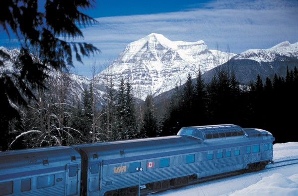 The Canadian Train in the Rockies - © VIA Rail